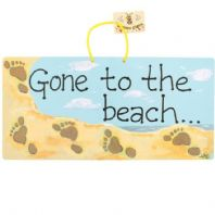 'Gone To The Beach!' Sign